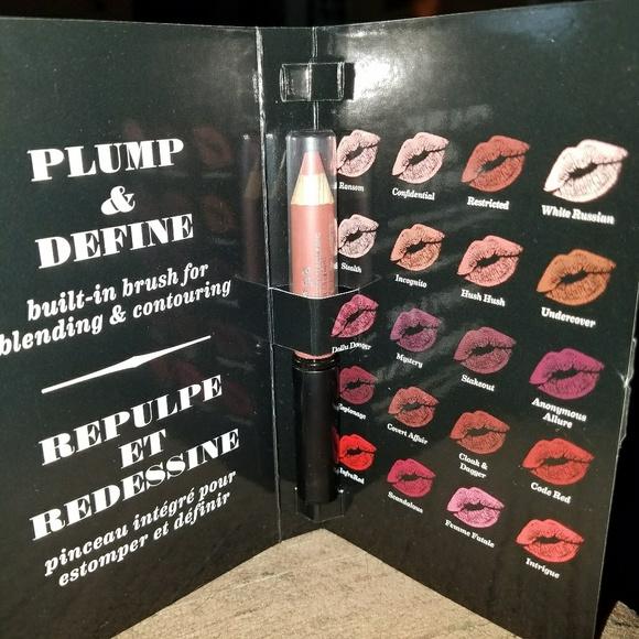 Buxom plumpline lip liner Hush Hush  03 oz NWT